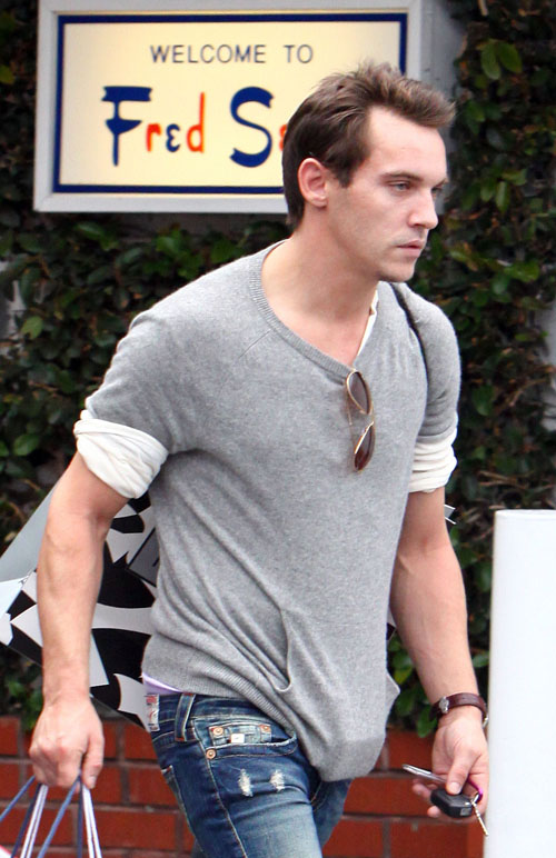 EXCLUSIVE: Jonathan Rhys Meyers Shopping At Fred Segal